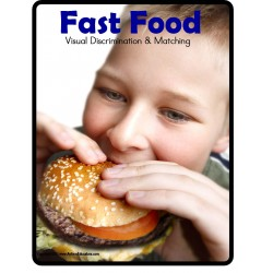 File Folder Games FAST FOOD Visual Discrimination and Matching Skills