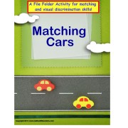 File Folder Game Matching Cars Visual Discrimination Activity for Autism