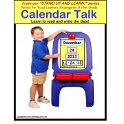 Calendar Skills - Learn to Read and Write The Date STAND UP AND LEARN Activity for Kindergarten, First Grade and Autism