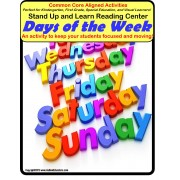 Autism Matching Days of The Week STAND UP AND LEARN Activity