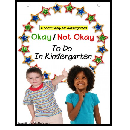 Autism Social Story & File Folder Game OKAY/NOT OKAY Kindergarten