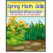 Special Education Spring Math Skills Interactive Center Activities