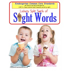 Sight Words Kindergarten Common Core Literacy Center {Summer Theme}