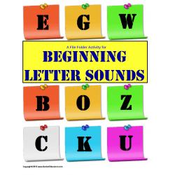 File Folder Activity Beginning Letter Sounds {Initial Sound}