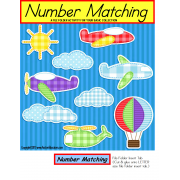 File Folder Matching Numbers and Number Words {Pre-K/Kindergarten/Autism}