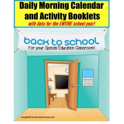 Autism Calendar Activity Booklets for Special Education