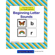 Beginning Letter Sounds File Folder Activity {Autism/Special Education/Kindergarten}