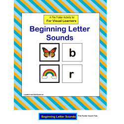 Beginning Letter Sounds File Folder Activity {Autism/Special Education/Kindergarten}