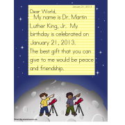 FREE!   Martin Luther King Common Core Collaboration Activity for Kindergarten and Visual Learners (Autism)
