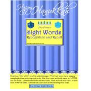 Happy Hanukkah Pre-Primer Sight Words