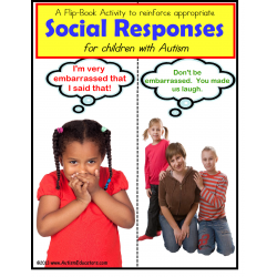 Autism Social Situations and Responses Activity Flip Book {Special Education}