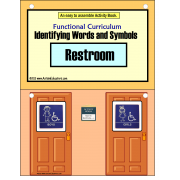 Functional Curriculum Words and Symbols/ RESTROOM
