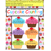 File Folder Games Set of 6 Cupcake Counting up to 10