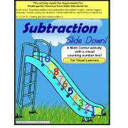 Subtraction Math Center Activity {Autism, Special Education, Kindergarten Common Core}