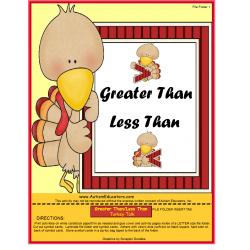 Talking Turkey Math (Greater/Less/Equal)