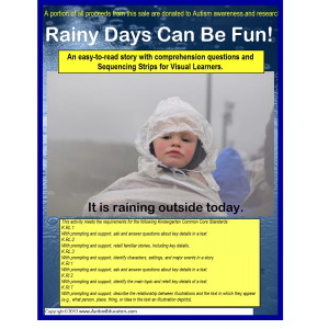 Autism Comprehension Activity Book -Rainy Days Can Be Fun! {Kindergarten}
