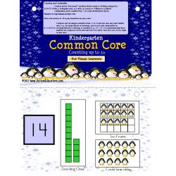 Math Kindergarten Common Core Counting to 20 Penguin Activity (Autism)
