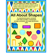 Shapes File Folders and Assessment Worksheets Comprehensive Packet for Autism/Special Education