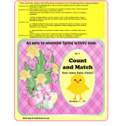 Spring Counting to 25 Kindergarten Math Activity Book {Autism, Special Education}