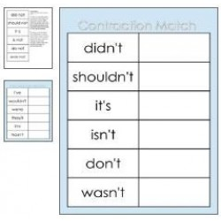 File Folder Games / Memory - Autism, SEN, Matching, Contractions