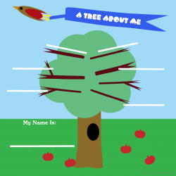 All About Me Activity Sheet for Boys - A Tree About Me