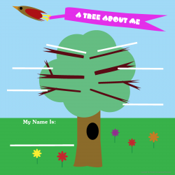 About Me Activity for Girls - A Tree About Me