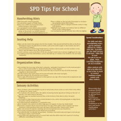 SPD Strategies for the Classroom