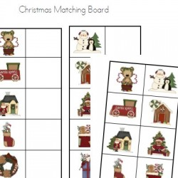 Christmas Matching Board Folder Game