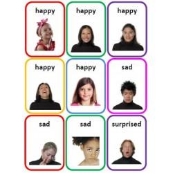 36 Emotions Photo Flashcards