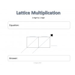 Lattice Multiplication Math Sheets