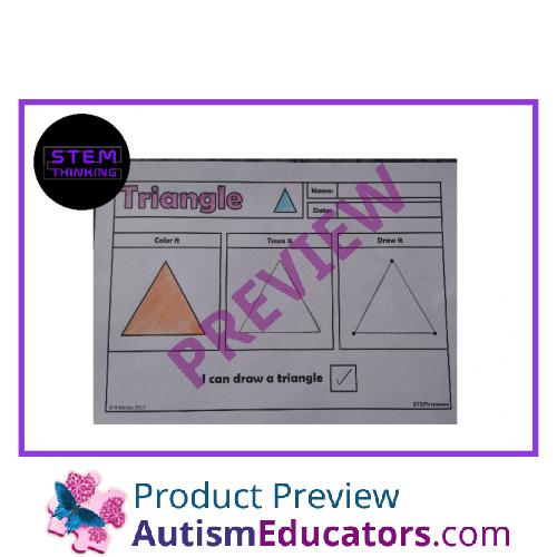 All Worksheets stem worksheets : Draw, Trace 2D Shapes Worksheets, STEM