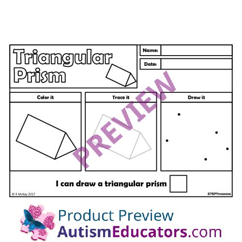 All Worksheets stem worksheets : Draw, Trace 3D Shapes Worksheets, STEM