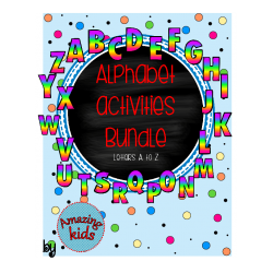 Alphabet Activities Bundle – Letters Aa-Zz