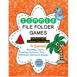 Summer File Folder Games