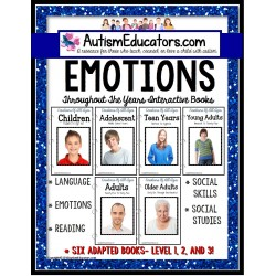 EMOTIONS and FEELINGS ADAPTED BOOK SET for Special Education and Autism