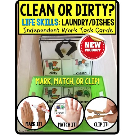 LIFE SKILLS Task Cards LAUNDRY and DISHES TASK BOX FILLER