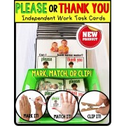 Social Skills PLEASE and THANK YOU Manners TASK CARDS for AUTISM TASK BOX FILLER