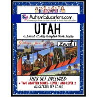 UTAH State Symbols ADAPTED BOOK for Special Education and Autism
