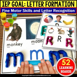 Fine Motor Skills | Letter Recognition Learning Boards for Special Education