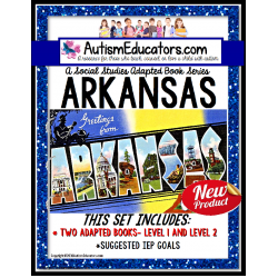 ARKANSAS State Symbols ADAPTED BOOK for Special Education and Autism
