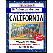 CALIFORNIA State Symbols ADAPTED BOOK for Special Education and Autism