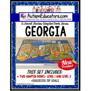GEORGIA State Symbols ADAPTED BOOK for Special Education and Autism