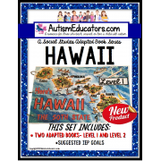 HAWAII State Symbols ADAPTED BOOK for Special Education and Autism