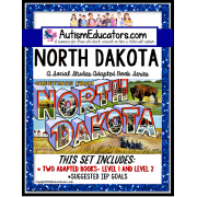 NORTH DAKOTA State Symbols ADAPTED BOOK for Special Education and Autism