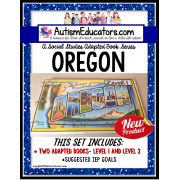 OREGON State Symbols ADAPTED BOOK for Special Education and Autism