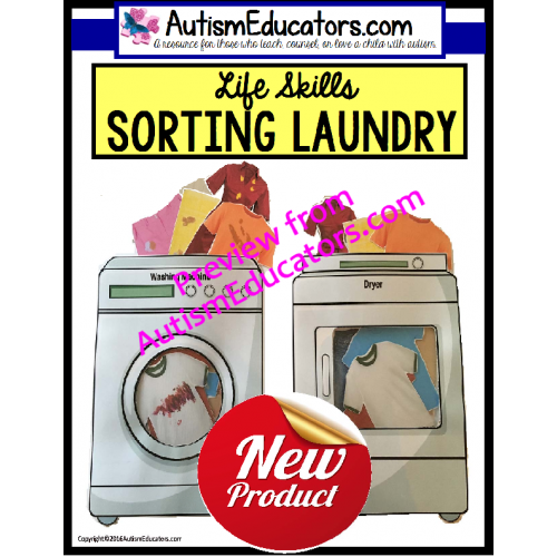 life skills sorting and matching laundry for special education and autism. Black Bedroom Furniture Sets. Home Design Ideas