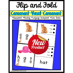 Special Education Reading Strategies CVC FLIP and FOLD READING FLUENCY (Autism)