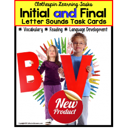 INITIAL and FINAL Letter Sounds Task Cards THINGS I SEE IN SCHOOL