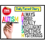 FREE Resource for Autism PARENTS Daily Diary
