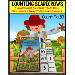 SCARECROWS Counting Up To 20 with Data and IEP Goals